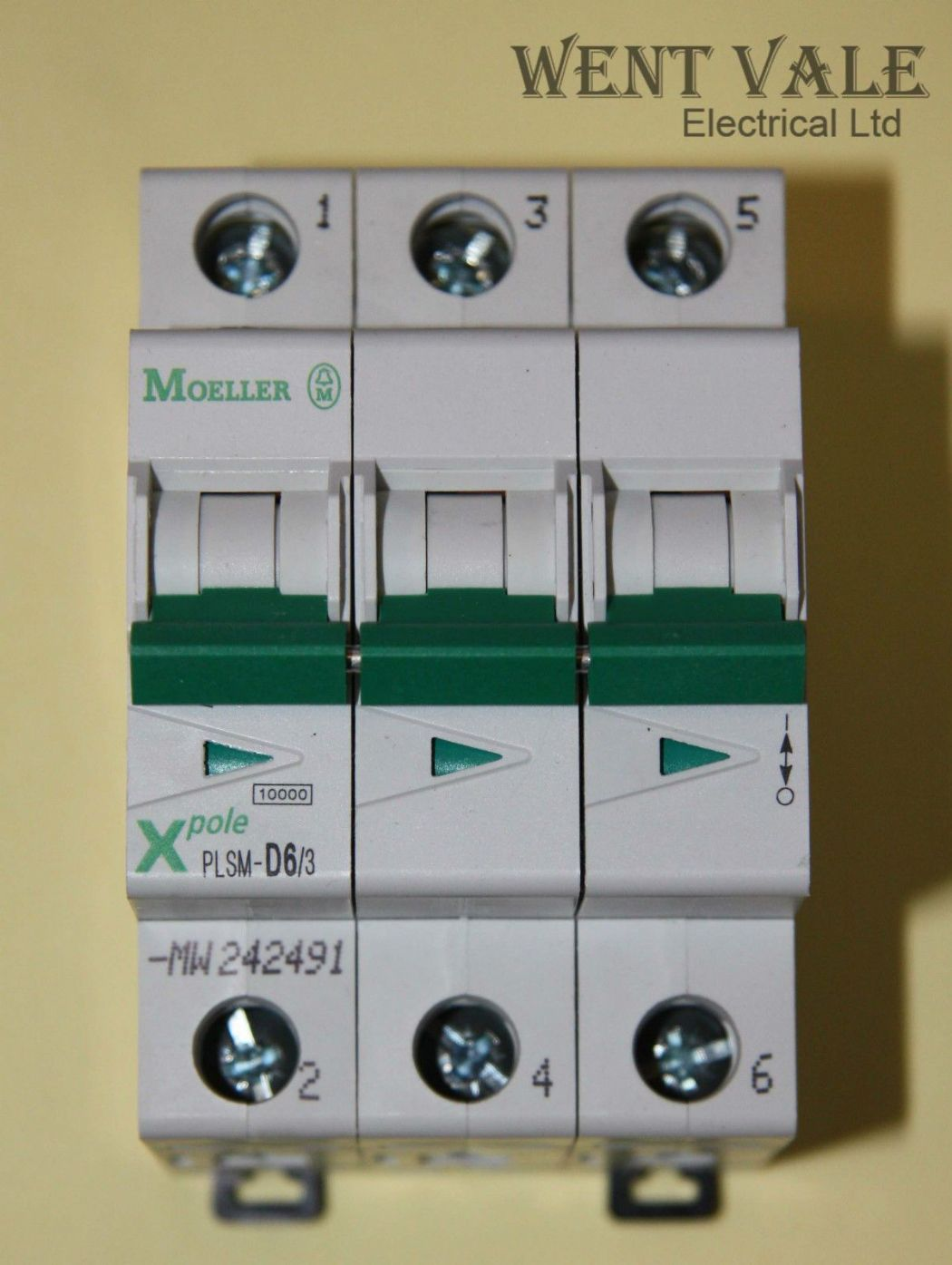 Moeller X Pole - PLSM-D6/3-DW - 6a Type D Triple Pole MCB New In Box